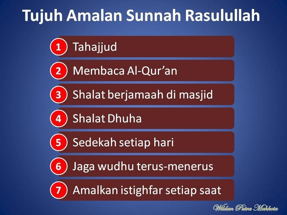 tujuh amalan sunnah every day. wildan
