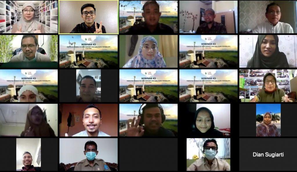 Persiapan New Normal, FKM UAD Adakan Webinar Mengkaji Aspek K3 di Sektor Pariwisata dan Perguruan Tinggi