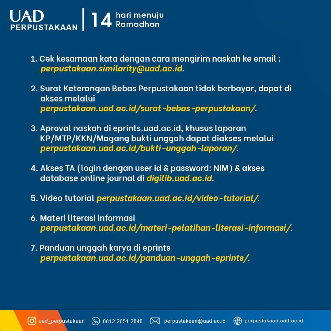 Layanan Perpustakaan UAD Terbaru